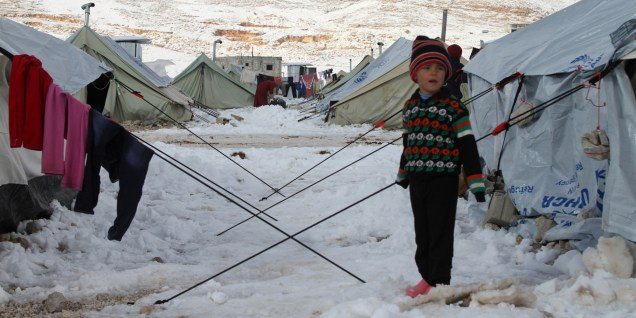 LEBANON-SYRIA-CONFLICT-REFUGEES-WEATHER