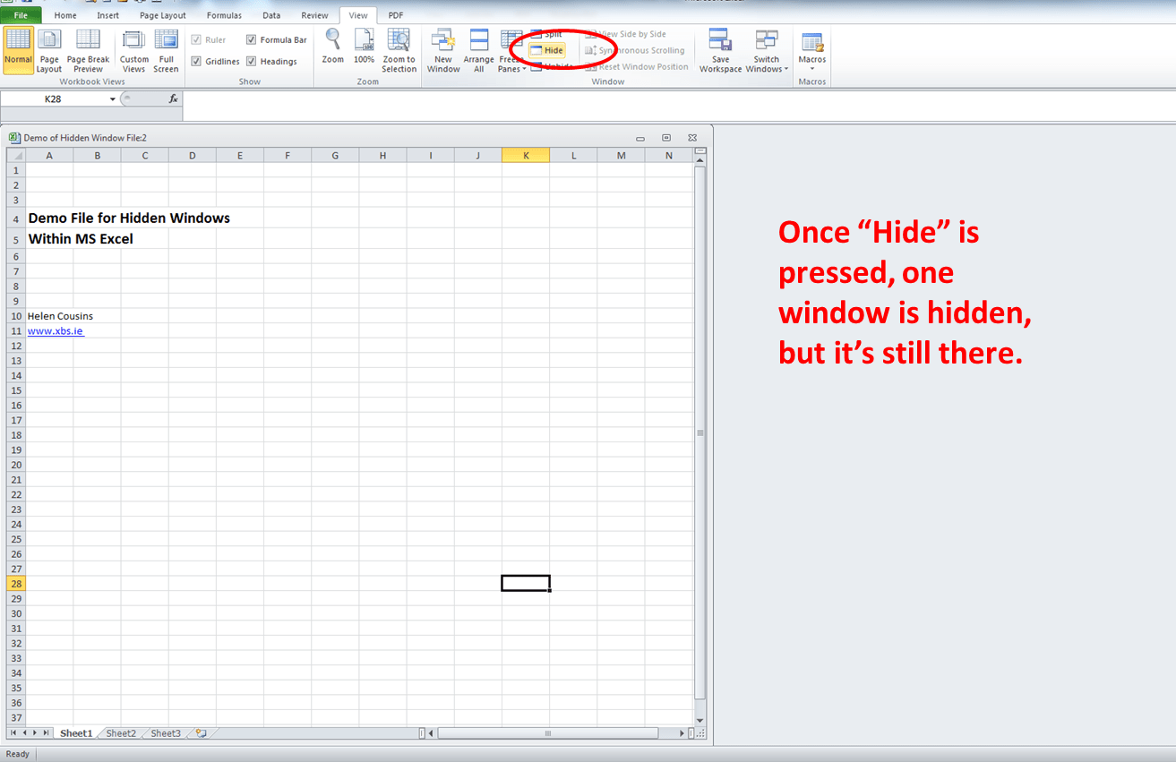 How To Fix Troubles Caused By Hidden Windows In Ms Excel Spreadsheet Xcel Business