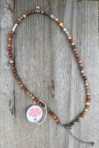Pimps&Pearls ketting natuursteen