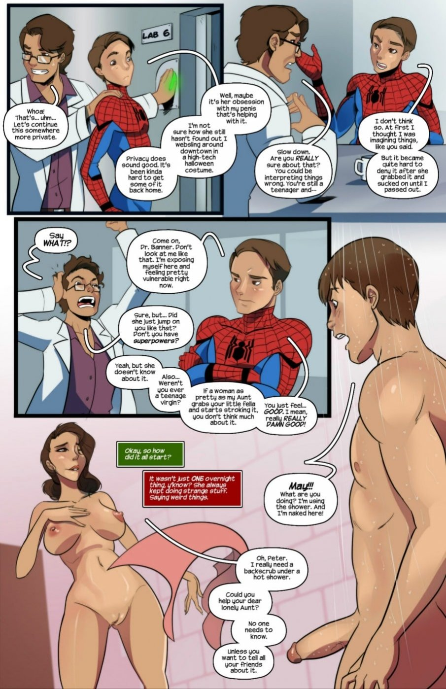 Spider-Man Aunt Cumming
