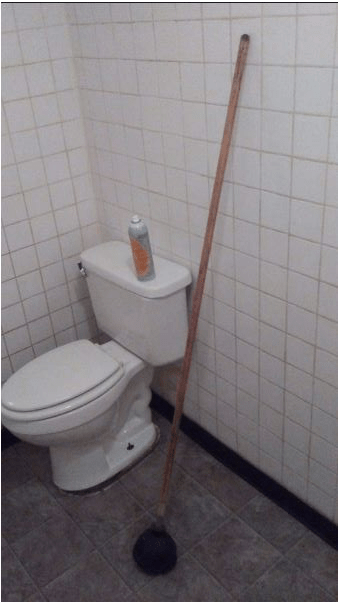 The world's longest plunger handle?