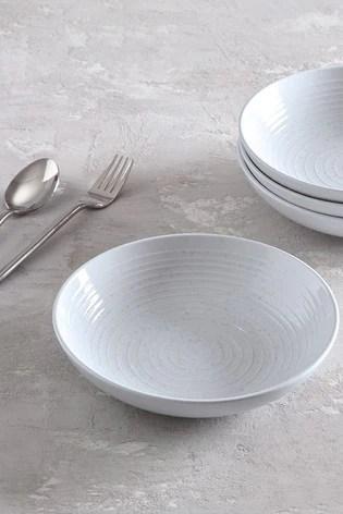 bronx set of 4 pasta bowls