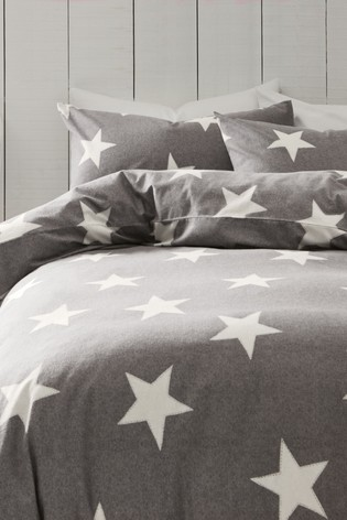 Buy Brushed Cotton Stars Duvet Cover And Pillowcase Set From Next Malta