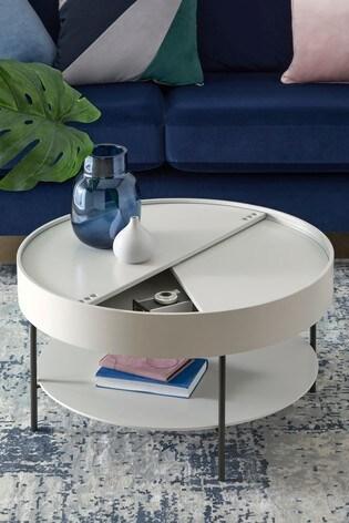 storage grey coffee table