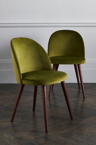 Buy Set Of 2 Zola Dining Chairs With Walnut Effect Legs From The Next Uk Online Shop