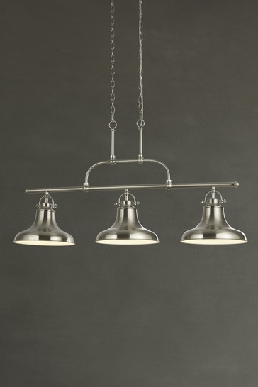 helix 3 light industrial bar pendant by searchlight