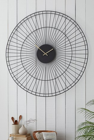 Buy Extra Large Wire Wall Clock From The Next Uk Online Shop