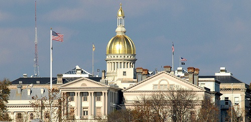 NJ Statehouse in Trenton during the day