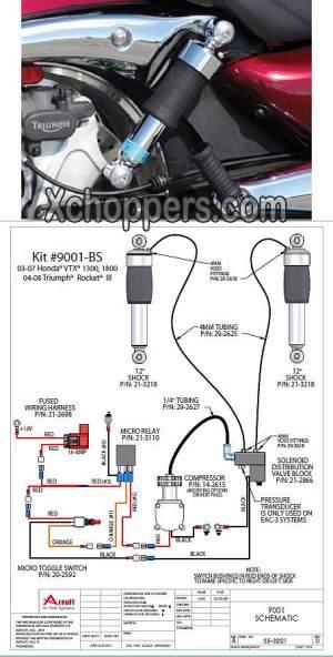 Xchoppers  Arnott Air Susp VTX (all), Triumph Rocket