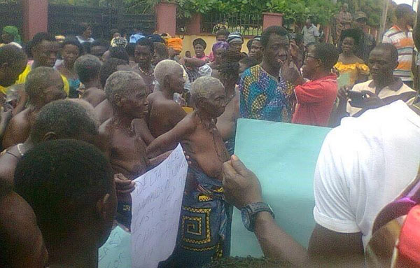 Ndokwa East women protest naked in Asaba over LGA election