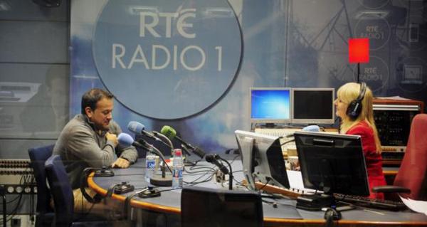 Minister Leo Varadkar and Miriam O'Callaghan on RTÉ Radio 1 studio
