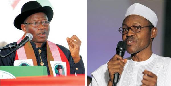 President Goodluck Jonathan and Muhammadu Buhari