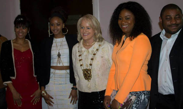 Susan Bradley, Michelle Thabile Hlongwane, Mayor Mags Murray, Penelope Chieme Aniuzu and Oluwayomi Ogunyemi