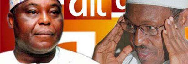 Owner of AIT Raymond Dokpesi and President-elect Muhammadu Buhari