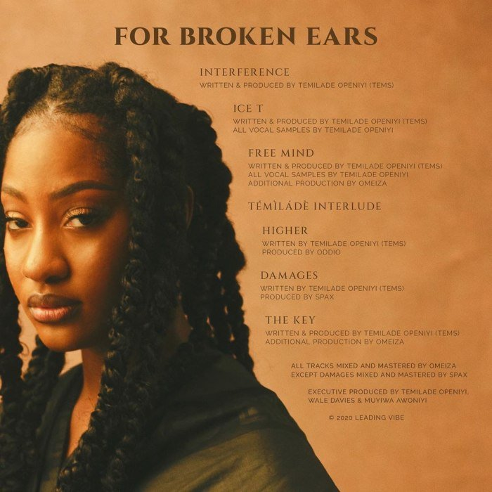 Tems For Broken Ears EP album