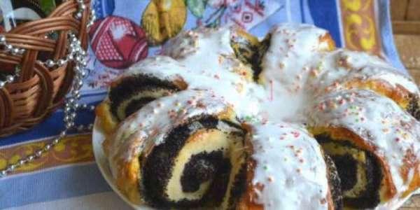 Пасхальный пирог – приготовление с маком по фото рецепту