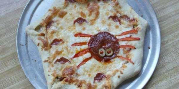 Пицца на Хэллоуин - рецепт с фото, как приготовить и украсить