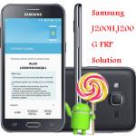 Samsung J200H, J200G FRP Reset File (Manual Guideline) Download