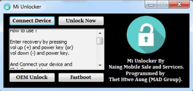 Xiaomi FRP Unlock Tool Download 100% Working