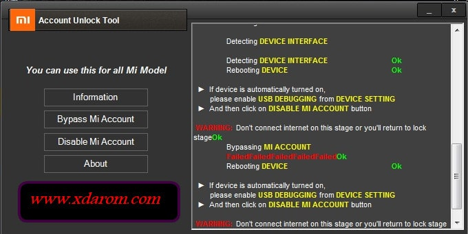 TOP MI Account Unlock/Remove Tool (How To Use Guidelines) | XDAROM COM