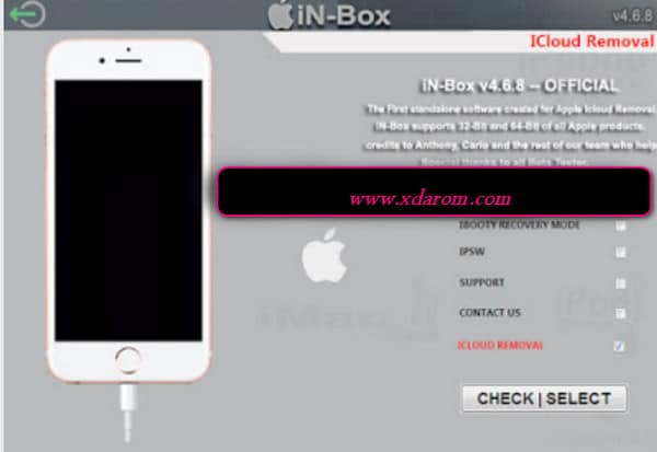 in-box V4 8 0 iPhone iCloud Lock Remove Any iOS Unlock Tool