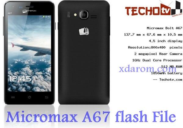 Micromax A67 Flash File