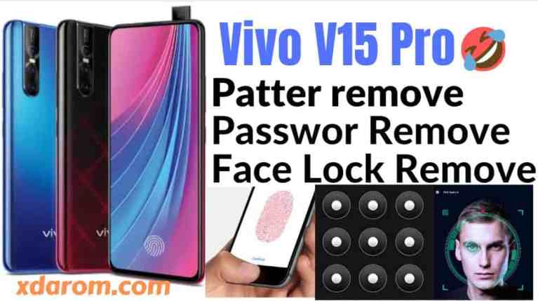 Vivo V15 Pro Pattern Lock Remove