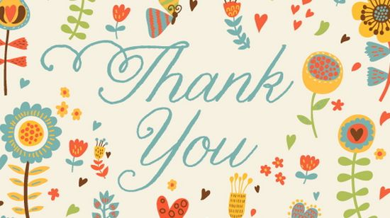 Free Thank You Card Printable Templates | Infocard.Co