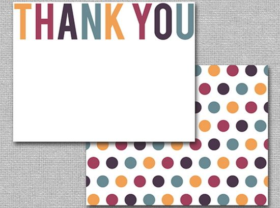 Printable Thank You Card Template | Infocard.Co