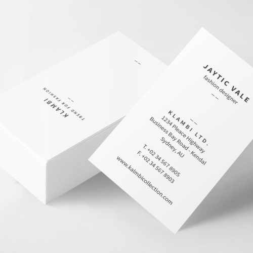 4 different business card designs