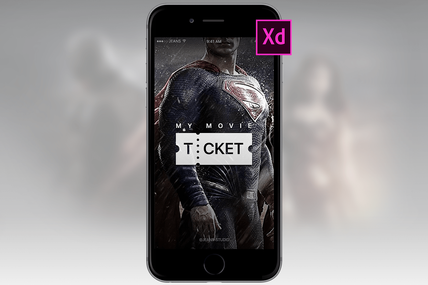 Free Download Movie App UI and Prototype for Adobe XD