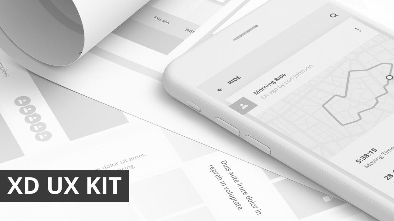 XD UX Kit – Коллекция из 7 мини-приложений для Adobe XD