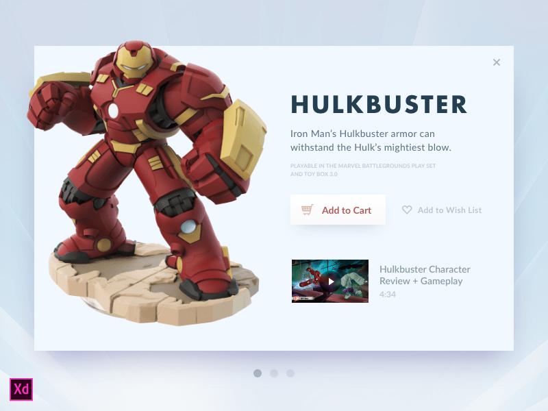 Hulkbuster Card (Adobe XD file)