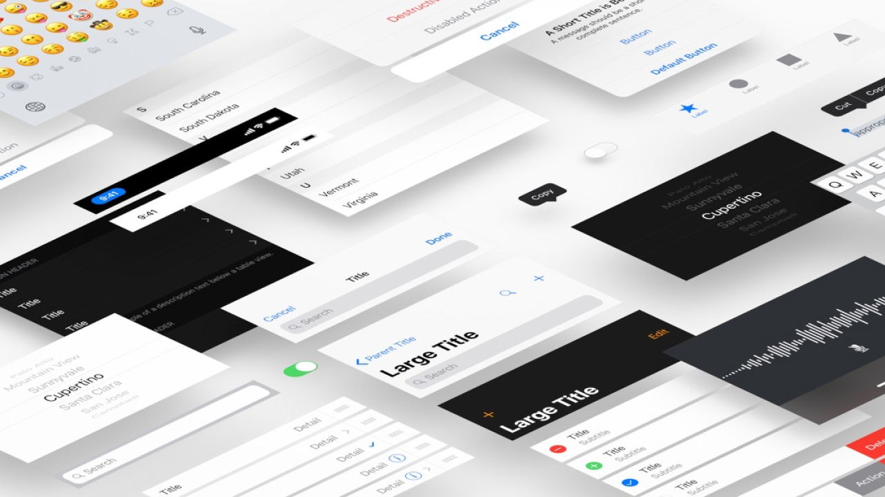Apple iOS 12 UI Kit для Adobe XD, Photoshop и Sketch