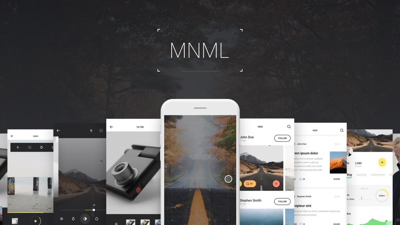 MNML – Универсальный iOS UI Kit для Sketch, Figma, PS и Adobe XD