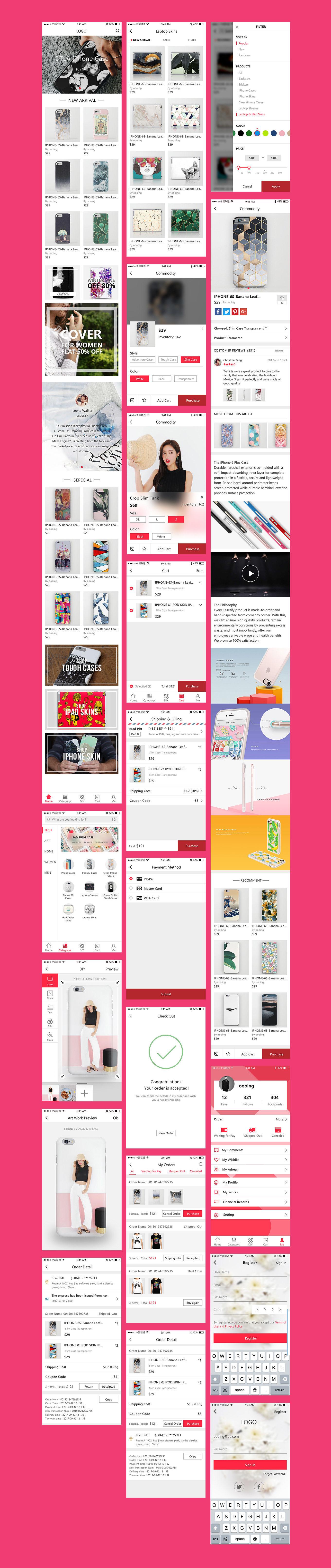 DIY Ecommerce App – Простой комплект UI для электронной торговли сделанный в XD
