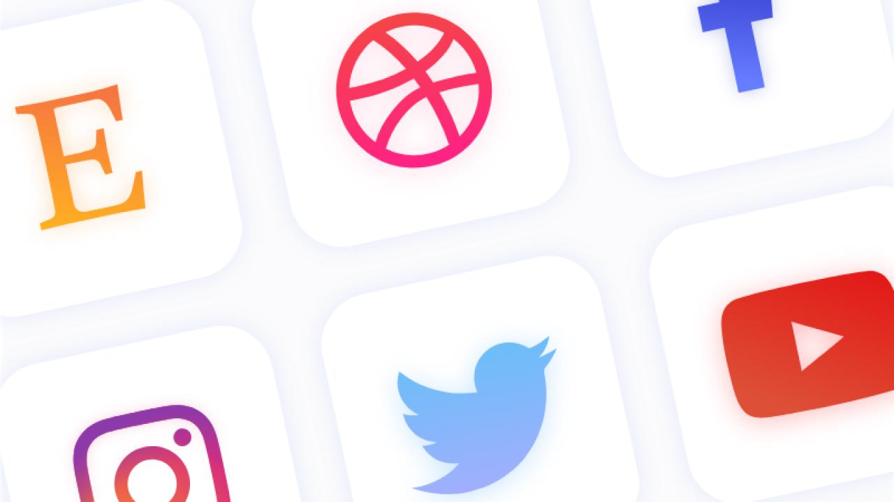 Бесплатные социальные иконки для Adobe XD