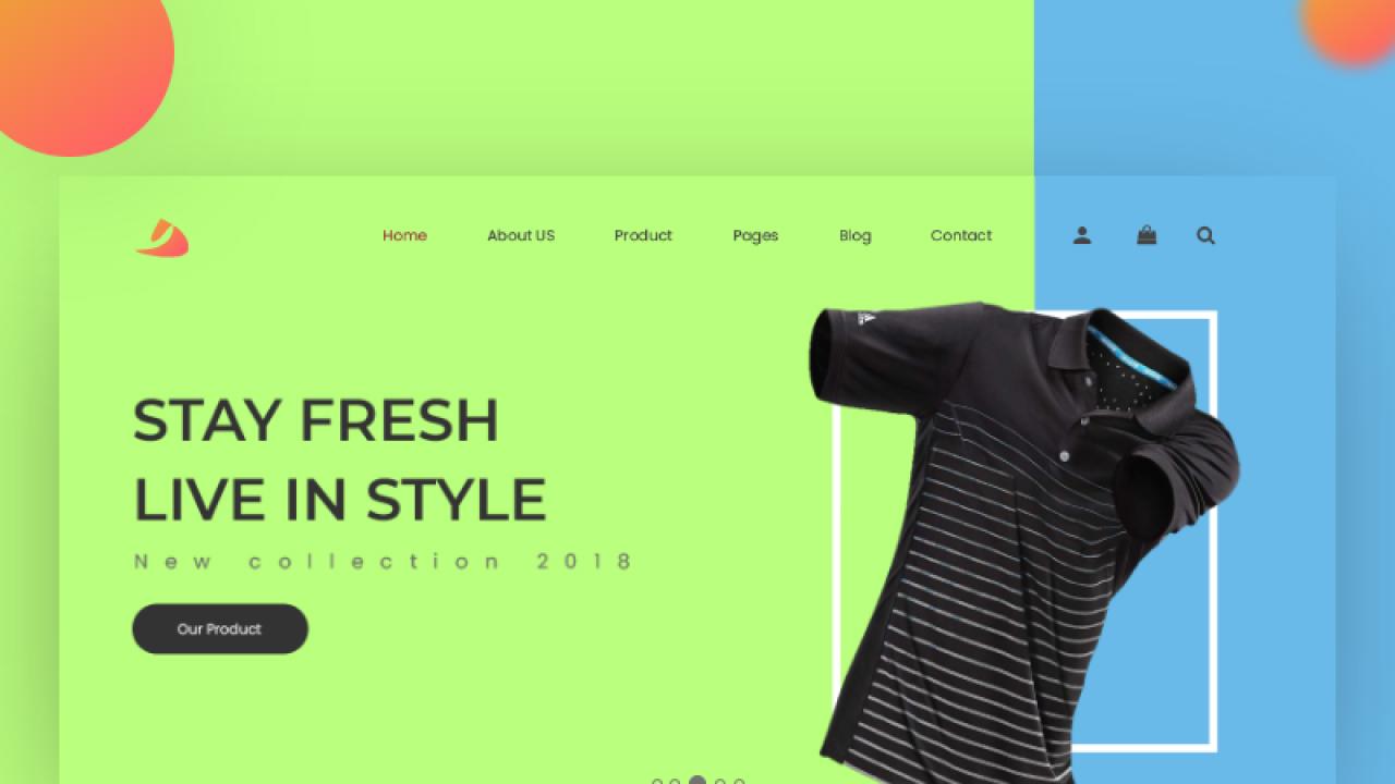 Концепция головного экрана сайта сделанная в Adobe XD