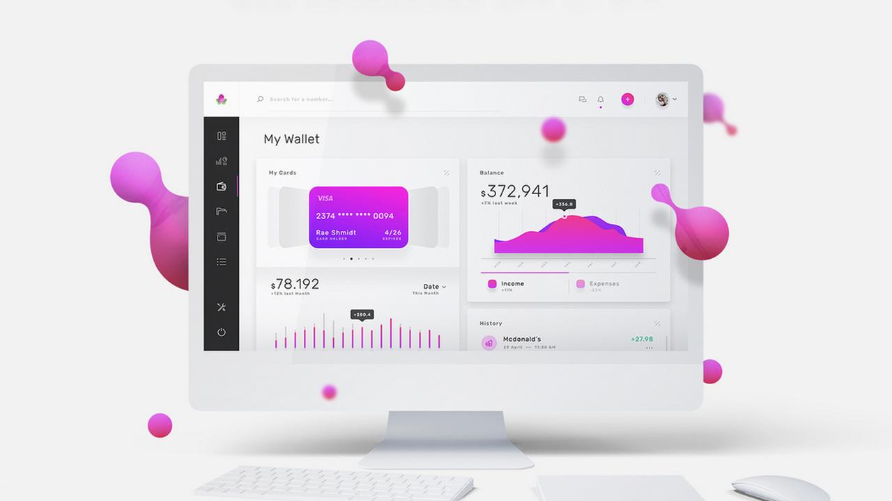 Violett Web UI Kit – Премиум дашборд и UI Kit веб-приложения для бизнеса в Adobe XD, Photoshop и Sketch
