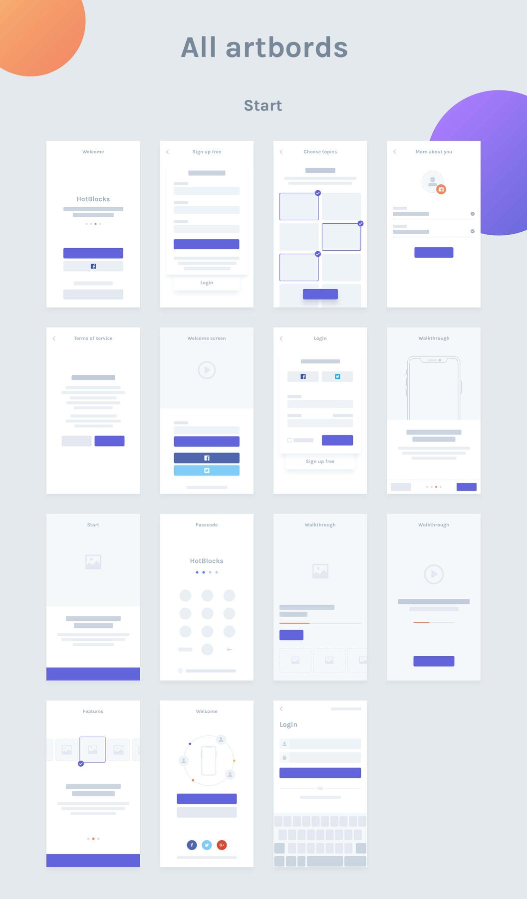 HotBlocks Mobile Flowcharts – Помогут вам создавать и представлять сценарии пользователей мобильных на высоком уровне