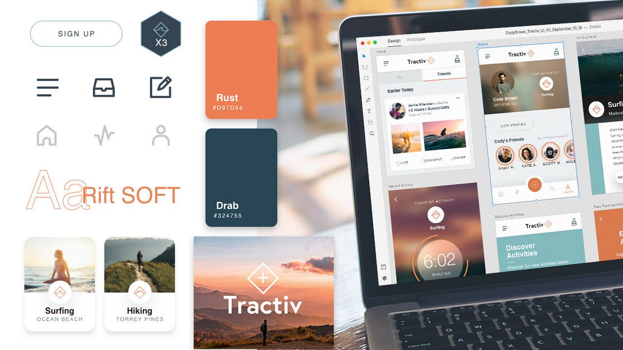 Tractiv UI Kit: Всё, что вам нужно, чтобы создать приложение для фитнеса