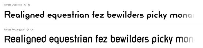 Шрифты Reross, теперь доступные из скрытых сокровищ Баухауса Дессау (Bauhaus Dessau) на Adobe Fonts