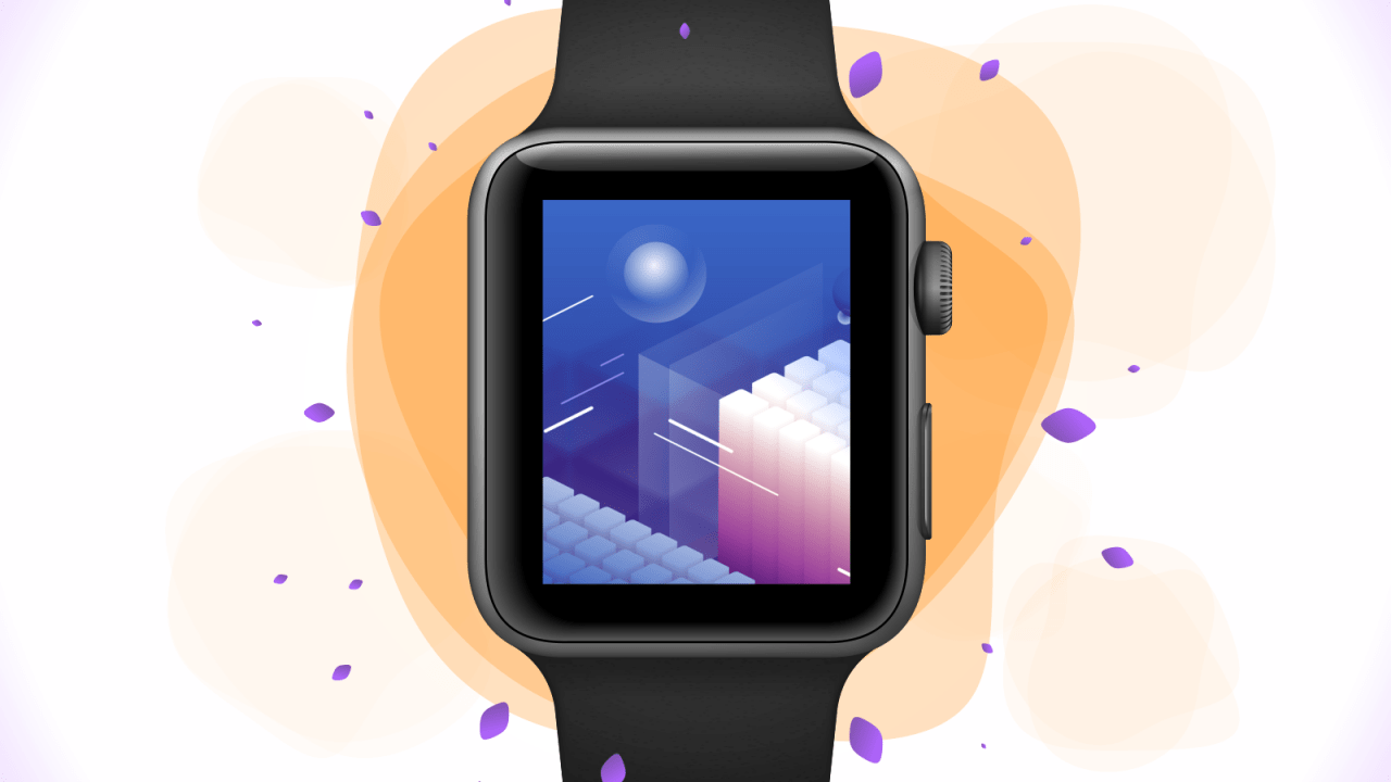 Макет Apple Watch S3 42mm для Adobe XD