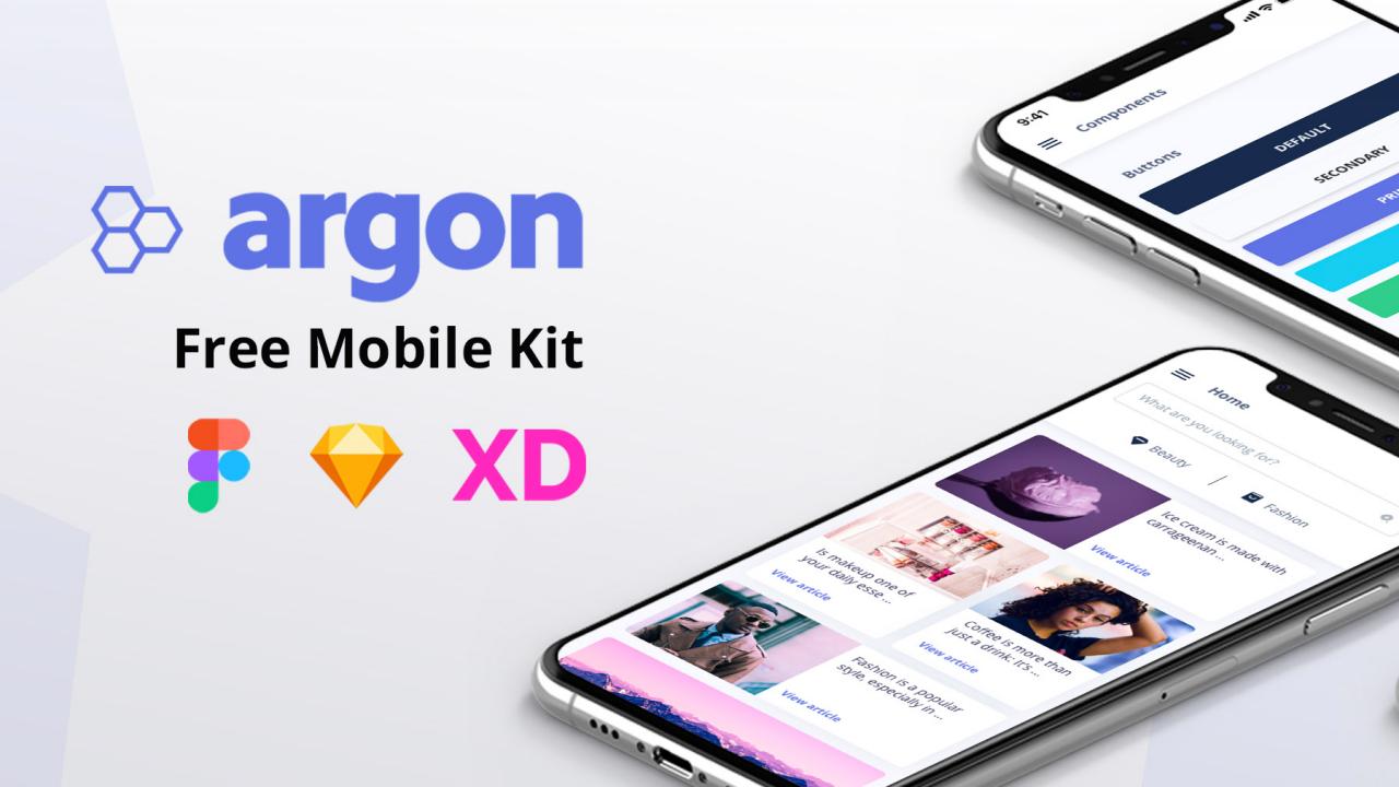 Argon Mobile UI Kit – Сделан с ❤️ для проектирования и разработки мобильных приложений