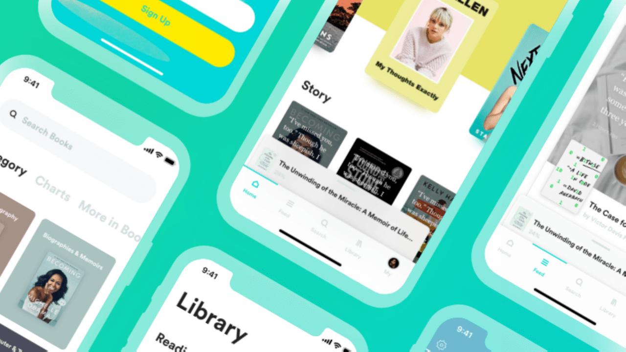 Бесплатный XD UI Kit для приложения книжного магазина