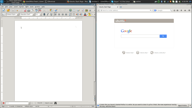 GTK program libre-office on the left vs Chrome with theme on the right