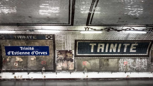 "Paris metro ""Trinite"""