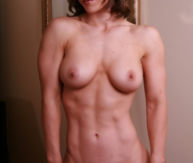 Sexy Nude Woman With Six Pack