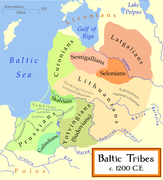 Map of the Baltic tribes.