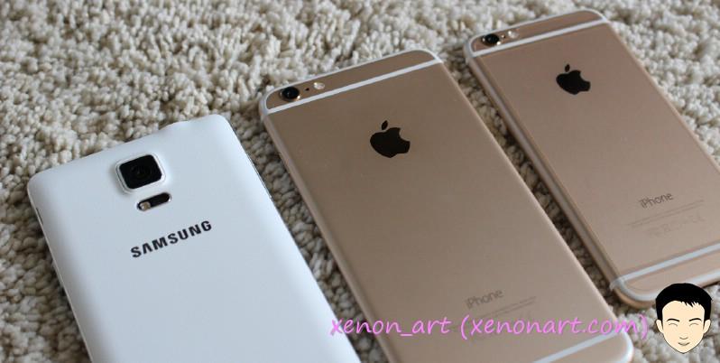 รีวิวกล้อง iPhone 6 ชน 6 Plus ปะทะ Galaxy Note 4 ใครจะอยู่ใครจะไป - ล้านเรื่องราว ของ xenon_art